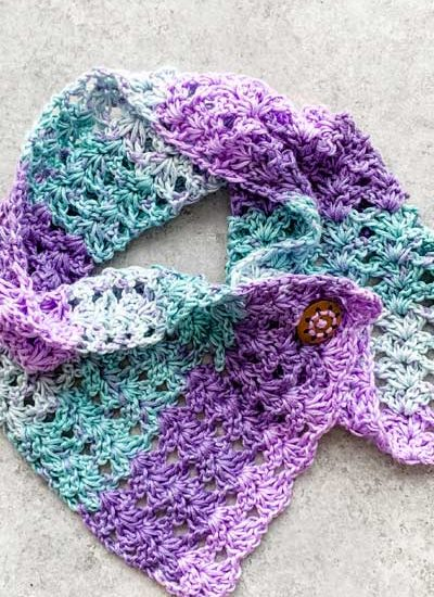 Lightweight lacy cowl perfect for Spring